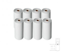 8 Thermal Paper Rolls 80x45x12mm