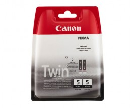 2 Original Ink Cartridges, Canon PGI-5BK Black 26ml