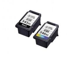 2 Compatible Ink Cartridges, Canon PG-545 / CL-546 Black 16ml + Color 14.5ml