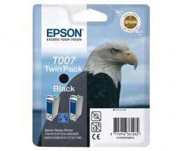 2 Original Ink Cartridges, Epson T007 Black 16ml