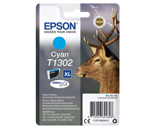 Original Ink Cartridge Epson T1302 Cyan 10.1ml ~ 755 Pages