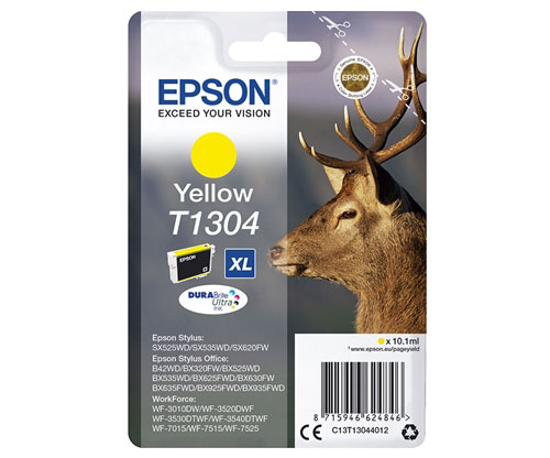 Original Ink Cartridge Epson T1304 Yellow 10.1ml ~ 755 Pages