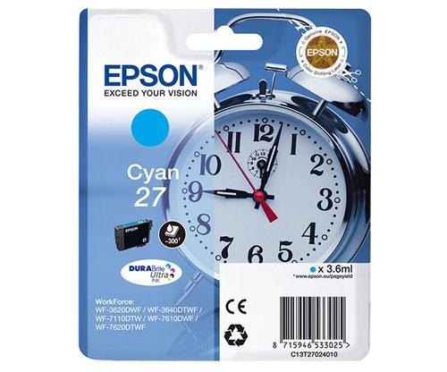 Original Ink Cartridge Epson T2702 / 27 Cyan 3.6ml