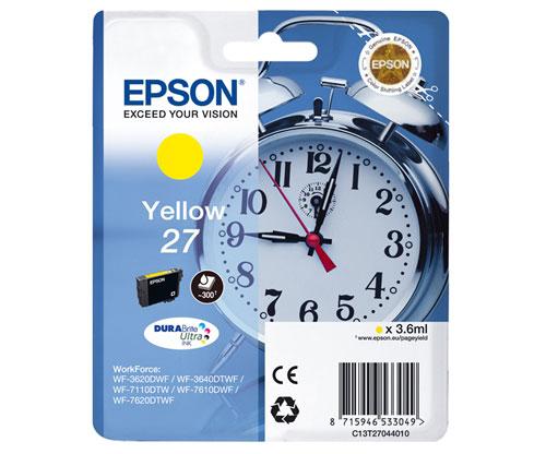 Original Ink Cartridge Epson T2704 / 27 Yellow 3.6ml
