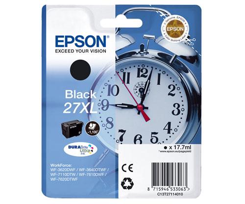 Original Ink Cartridge Epson T2711 / 27 XL Black 17.7ml
