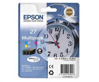 3 Original Ink Cartridges, Epson T2705 / 27 Color 3.6ml