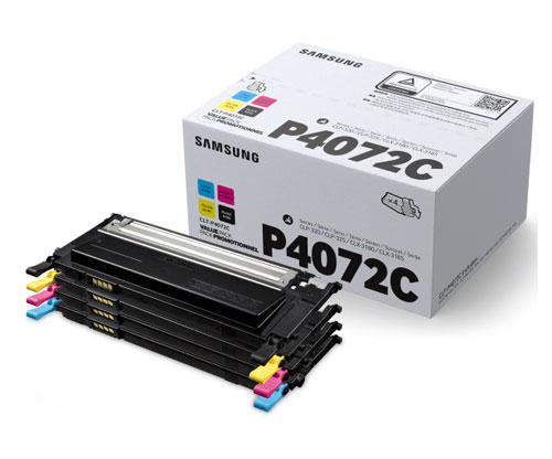 4 Original Toners, Samsung 4072S Black + Color ~ 1.500 / 1.000 pages