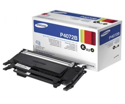 2 Original Toners, Samsung P4072B Black ~ 1.500 Pages