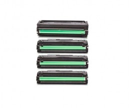 4 Compatible Toners, Samsung 503L Black + Color ~ 8.000 / 5.000 Pages