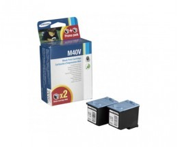 2 Original Ink Cartridges, Samsung M-40 Black 14ml