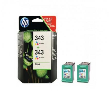 2 Original Ink Cartridges, HP 343 Color 7ml