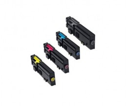 4 Compatible Toners, DELL 593BBBX Black + Color ~ 6.000 / 4.000 Pages