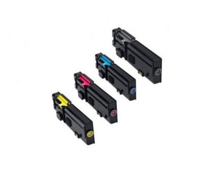 4 Compatible Toners, DELL 593BBBX Black + Color ~ 6.000 / 4.000 Pages
