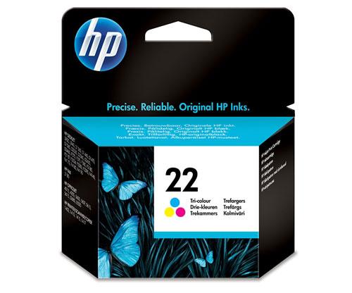Original Ink Cartridge HP 22 Color 5ml ~ 165 Pages