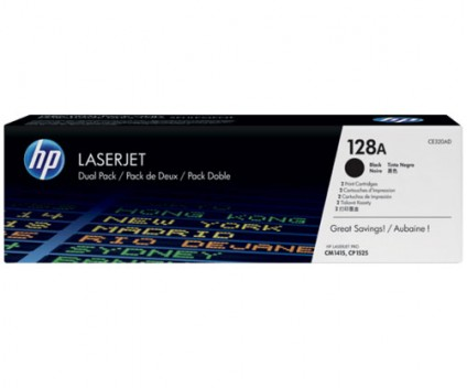 2 Original Toners, HP 128A Black ~ 2.000 Pages