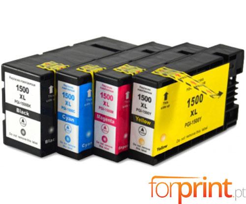 4 Compatible Ink Cartridges Canon PGI-1500 Black 36ml + Color 11.5ml