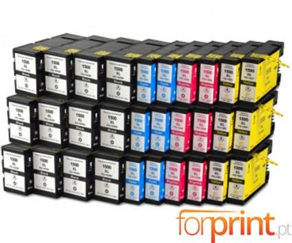 30 Compatible Ink Cartridges Canon PGI-1500 Black 36ml + Color 11.5ml