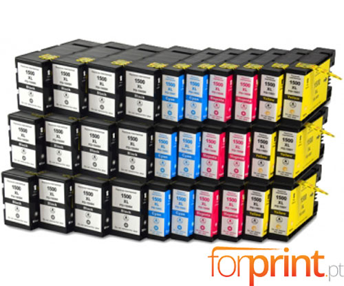 30 Compatible Ink Cartridges Canon PGI-1500 Black 36ml + Color 11.5ml