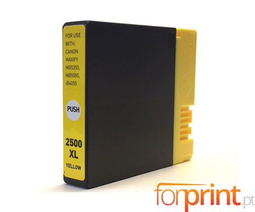 Compatible Ink Cartridge Canon PGI-2500 XLY Yellow 20.4ml