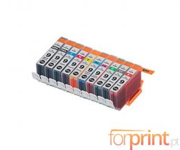 10 Compatible Ink Cartridges, Canon PGI-9 Black + Color 13.4ml