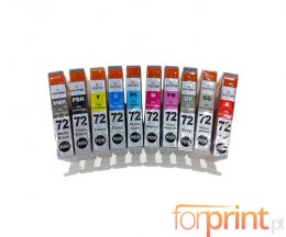10 Compatible Ink Cartridges, Canon PGI-72 Black + Color 14ml