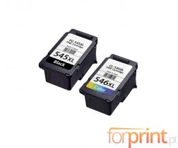 2 Compatible Ink Cartridges, Canon PG-545 / CL-546 Black 16ml + Color 14.5ml