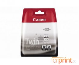 2 Original Ink Cartridges, Canon BCI-3 EBK Black 27ml ~ 500 Pages