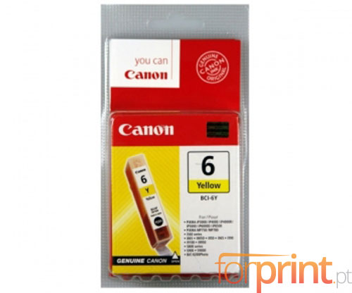 Original Ink Cartridge Canon BCI-6 Yellow 13ml ~ 210 Pages