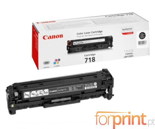 Original Toner Canon 718 Black ~ 3.400 Pages