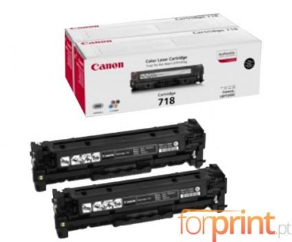 2 Original Toners, Canon EP-718 Black ~ 3.400 Pages