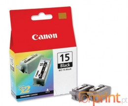 2 Original Ink Cartridges, Canon BCI-15 Black 5.3ml