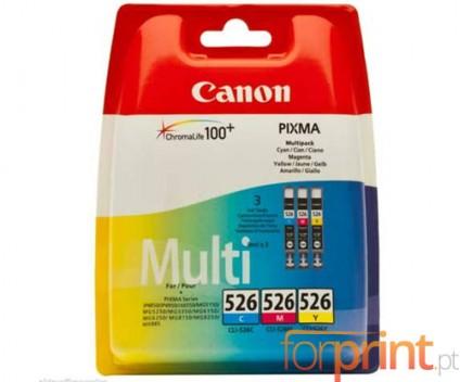3 Original Ink Cartridges, Canon CLI-526 Color 9ml