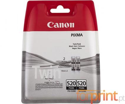 2 Original Ink cartridges, Canon PGI-520 Black 19ml