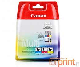 3 Original Ink Cartridges, Canon BCI-3 E Color 14ml