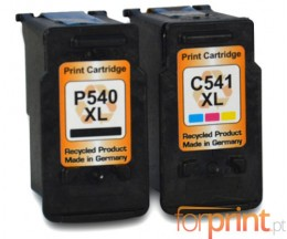 2 Compatible Ink Cartridges, Canon PG-540 XL / CL-541 XL Black 24ml + Color 21ml