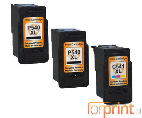 3 Compatible Ink Cartridges Canon Pg 540 Xl Cl 541 Xl Black