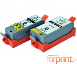 2 Compatible Ink Cartridges, Canon PGI-35 / CLI-36 Black 9ml + Color 11.8ml