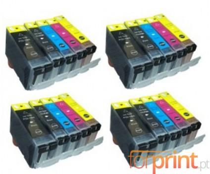 20 Compatible Ink Cartridges, Canon PGI-5 / CLI-8 Black 26.8ml + Colores 13.4ml