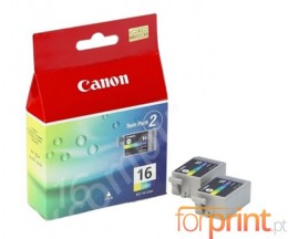 2 Original Ink Cartridges, Canon BCI-16 Color 2.5ml