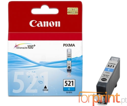Original Ink Cartridge Canon CLI-521 Cyan 9ml ~ 448 Pages