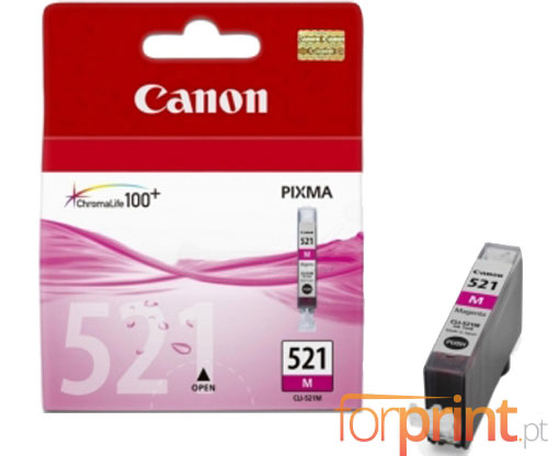 Original Ink Cartridge Canon CLI-521 Magenta 9ml ~ 445 Pages