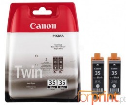 2 Original Ink cartridges Canon PGI-35 Black 9.3ml