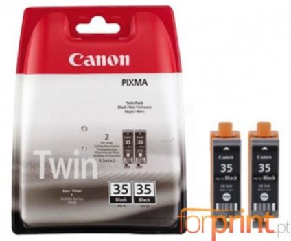 2 Original Ink cartridges Canon PGI-35 Black 9.3ml