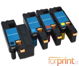4 Compatible Toners, DELL 5931112X Black + Color ~ 1.250 / 1.000 Pages