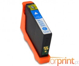 Compatible Ink Cartridge DELL 31 / 32 / 33 / 34 Cyan 15ml