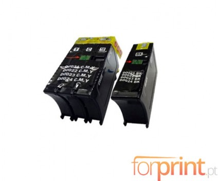2 Compatible Ink Cartridges, DELL 21 / 22 / 23 / 24 Black 19ml + Color 30ml