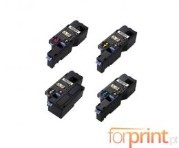 4 Compatible Toners, DELL 593BBLX Black + Color ~ 2.000 / 1.400 Pages