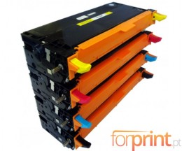 4 Compatible Toners, DELL 5931017X Black + Color ~ 8.000 Pages