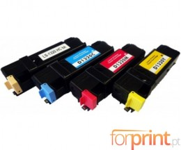 4 Compatible Toners, DELL 5931025X Black + Color ~ 2.000 Pages