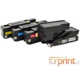 4 Compatible Toners, DELL 5931114X Black + Color ~ 2.000 / 1.400 Pages